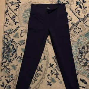 Navy ankle Yoga Pants - Small